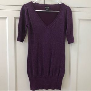 Purple Shiny Mini Dress/ Tunic